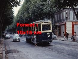 Reproduction D'une Photographie D'un Tramway Ligne 68 Boulevard Chave à Marseille En 1964 - Reproductions