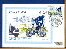 ITALIA - Cartolina Maximum - 1999 - FAUSTO  COPPI - Cartoline Maximum
