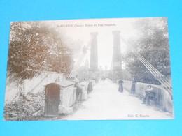 81 ) Saint-sulpice  - Entrée Du Pont Suspendu   : Année 1915 : EDIT : Gaudou - Saint Sulpice