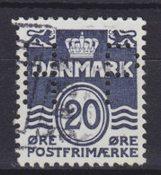 Denmark Perfin Perforé Lochung  (P19) 'PH' Philips A/S København ERROR Variety Misplaced Perfin Print (Wide Apart) - Abarten Und Kuriositäten