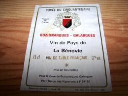 Etiquette Vin Wine Label 50 Ans Jumelage Buzignargues Galargues La Benovie 34160 - Collections & Sets