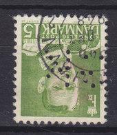 Denmark Perfin Perforé Lochung (G21) 'GK' Gentofte Kommune, Charlottenlund (Mi. 302 II) Frederik IX. Stamp (2 Scans) - Abarten Und Kuriositäten