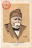 """TEL - Clémenceau """"L' Homme Enchainé"""" Juin 1917 - Pub Un Bon Tailleur C'est The Sport  (1399 ASO) - Illustratori & Fotografie"""