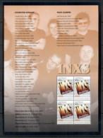 Australia 2013 Australian Legends Of Music, INXS Prestige Booklet Pane MUH - 2010-... Elizabeth II