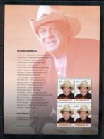 Australia 2013 Australian Legends Of Music, Molly Meldrum Prestige Booklet Pane MUH - 2010-... Elizabeth II