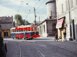 Reproduction D'une Photographie D'un Tramway Ligne 68 Eglise St-Pierre à Marseille - Reproductions