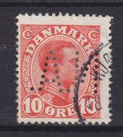 Denmark Perfin Perforé Lochung (N04) 'N.A.' Nordisk Automobil- Og Transportforsikring, København Chr. X Stamp (2 Scans) - Abarten Und Kuriositäten