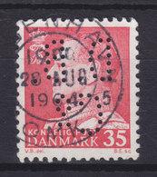 Denmark Perfin Perforé Lochung (D13) 'D.B. Co.' The Dominion Belting Co. København (2 Scans) - Abarten Und Kuriositäten