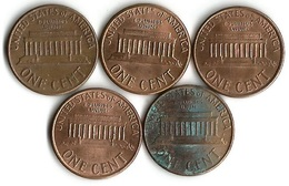 Lot 5 Pièces De Monnaie    1 Cent - Lots
