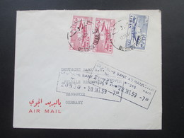 Libanon 1959 Air Mail / Luftpost Brief Nach Hannover. Arab Bank Ltd. Beirut / Beyrouth  Lebanon - Libanon