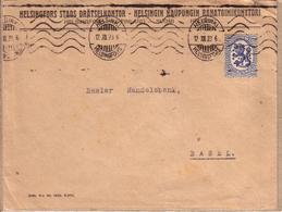 FINLANDE , SUISSE - LETTRE HELSINSKI POUR BALE , TIMBRE SUOMI 2 M FINLAND - Cartas