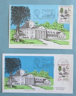 SAUVONS NOS FORETS - ARC ET SENANS 1985 - 1 Enveloppe + 1 Carte - Cachets Postaux + Timbres Orme De Montagne - Documents De La Poste