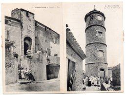 """"""" MARSEILLETTE - Portail Du Fort - Tour De L'Horloge """" CARTE DOUBLE - Capendu"""