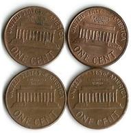 Lot 4 Pièces De Monnaie    1 Cent - Lots