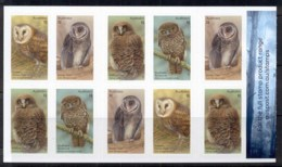 Australia 2016 Owls, Guardians Of The Night, Birds  Booklet P&S MUH - 2010-... Elizabeth II
