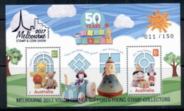 Australia 2016 Playschool , Opt Melbourne 2017 Youth Corner Supports Young Stamp Collectors MS MUH - 2010-... Elizabeth II