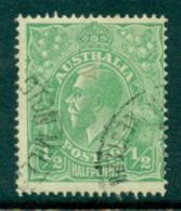 Australia KGV Head 1/2d Green Single Wmk FU Lot24894 - 1913-36 George V: Heads
