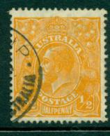 Australia KGV Head 1/2d Orange Small Multi Wmk Perf 13.5x12.5 FU Lot24994 - 1913-36 George V: Heads