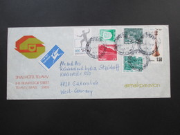 Israel 1977 Air Mail / Luftpost Umschlag Des Sinai Hotel Tel-Aviv Hotelumschlag - Cartas