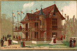 CHROMO FABRIQUE DE CORSETS Mme CHEVALIER-FELDHAUS AMIENS EXPOSITION DE GUATEMALA  EXPOSITION UNIVERSELLE 1889 - Cromos