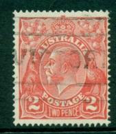 Australia KGV Head 2d Red Single Wmk FU (lot21849) - 1913-36 George V: Heads