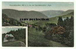 Spindelmühle Riesengebirge, Krausebauden, Hotel Zur Schweizerkoppe, Alte Ansichtskarte, Spindleruv Mlyn - Tschechische Republik