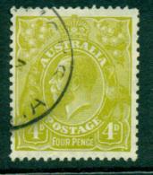 Australia KGV Head 4d Olive Small Multi Wmk Perf 13.5x12.5 FU Lot25048 - Used Stamps