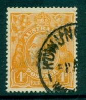 Australia KGV Head 4d Orange Single Wmk FU (lot21786) - Used Stamps