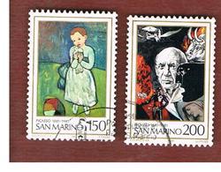 SAN MARINO - UNIF. 1082.1083  - 1981 CENTENARIO DI PABLO PICASSO (SERIE COMPLETA DI 2)  -  USATI (USED°) - San Marino
