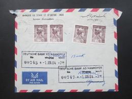 Syrien 1964 Air Mail / Luftpost Banque De Syrie Et D'Outre - Mer. Damas - Hannover Deutsche Bank - Syria