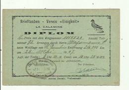 La Calamine  - Diplom 1947 - Kelmis