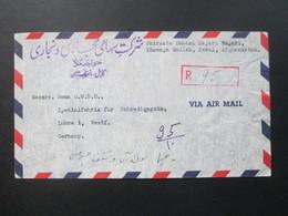 Afganistan 1956 Einschreiben / Luftpost / Via Air Mail Kabul - Löhne Westfalen. Interessanter Beleg!! - Afghanistan