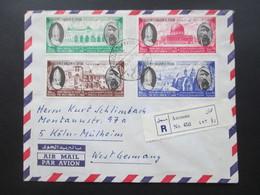 Jordanien 1964 Einschreiben / Luftpost / Air Mail Amman No 452. Marken The Hashemite Kingdom Of Jordan - Jordanien