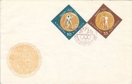 73181- BOXING, SHOOTING, MELBOURNE'56 OLYMPIC GAMES, COVER FDC, 1961, ROMANIA - Sommer 1956: Melbourne