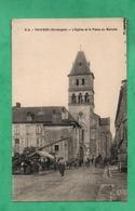 24 Dordogne Thiviers L ' Eglise Et La Place Du Marché - Thiviers