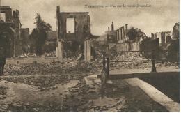TERMONDE : Vue Sur La Rue De Bruxelles - RARE VARIANTE - Dendermonde