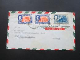 Iran Air Mail / Luftpost An Der Weserwert Schiffs Und Maschinenbau Minden Westfalen. Teheran Iran - Iran