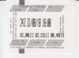 Brasov Parking Ticket Voucher Paid Used - Tickets - Vouchers