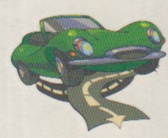 Adhesive Sticker - Comics Cartoon - Car Auto 40/35 Mm - Stickers
