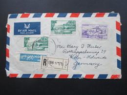Libanon Ca. 1950er Jahre! Air Mail / Luftpost Einschreiben R 116 / Arabische Schrift!! Absender Hotel Regent Beirut - Libanon