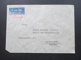 Irak / Iraq 1939 Air Mail / Luftpost Bagdad - Apolda August Schroer Fabrik Für Strickkleidung - Iraq