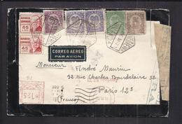 ENVELOPPE GUERRE ESPAGNE 1938 Cachet De Censure REPUBLICA ESPANOLA VALENCIA CORREO AEREO AEROGRAMME - Republikanische Zensur