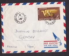 Vietnam: Airmail Cover To France, 1 Stamp, Logo (minor Damage) - Vietnam