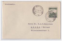 Dt- Reich (001016) Propaganda Brief Cuxhafen Nordmarklager 24.7.1936, Gelaufen Als Drucksache - Deutschland