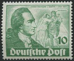 BERLIN 61I *, 1949, 10 Pf. Goethe Mit Abart Farfbfleck Neben Rechtem Unterarm Des Darstellers, Falzrest, Pracht, Mi. 90. - [5] Berlijn