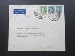 Irak / Iraq 1936 Air Mail / Luftpost SOR Ashar Basra - Apolda August Schroer Fabrik Für Strickkleidung - Iraq