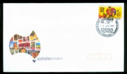 Christmas Is 2005 New Year Of The Rooster, Chinatown Melbourne GPO FDC Lot80315 - Christmas Island