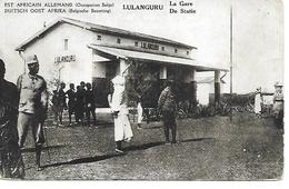 TANZANIE - LULANGURU - LA GARE - EST AFRICAIN ALLEMAND - (ANIMATION)   - B142 - Tanzania
