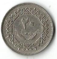 1 Pièce De Monnaie 20Dirham 1975 - Libya