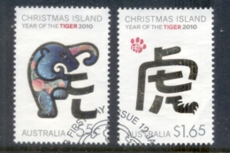 Christmas Is 2010 New Year Of The Tiger FU - Christmas Island